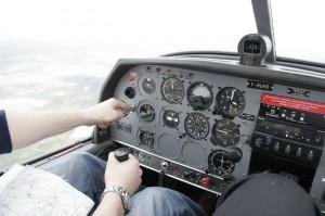 C'est à bord d'avions écoles, comme ce Dr-400 2+2, que les apprentis pilotes font leurs premières armes.